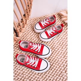 Children's Classic Low Sneakers BIG STAR HH374196 Red