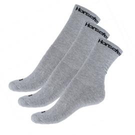 3PACK ponožky Horsefeathers šedé (AA547D)