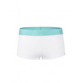 Dámské kalhotky Elka bílé s mint gumou (DB0032)